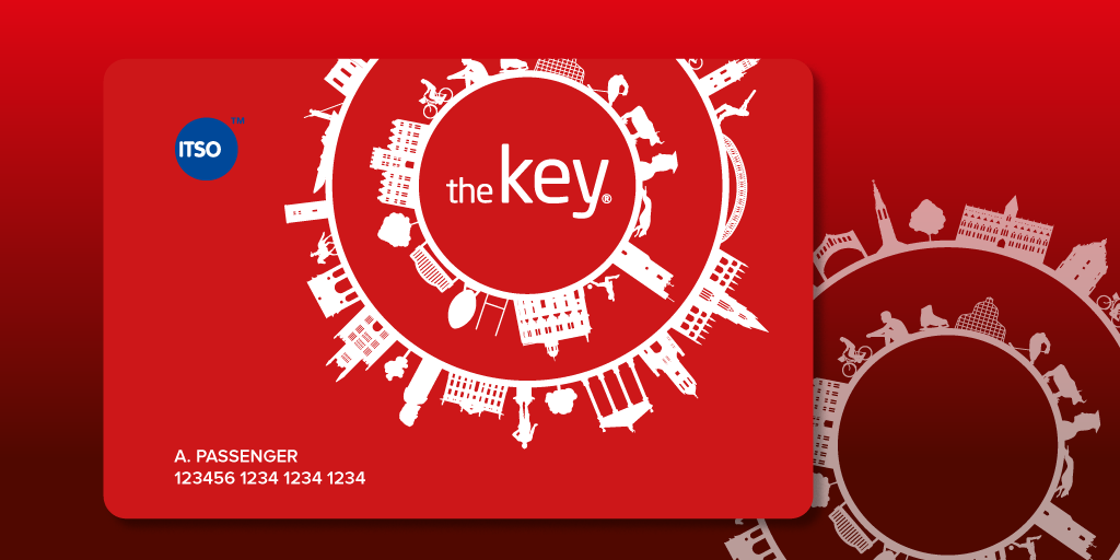 Illustration of a red key card